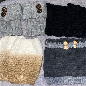 Women's short cuff calf warmers